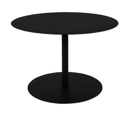 Zuiver Side table Snow Round black metal M Ø60x40cm