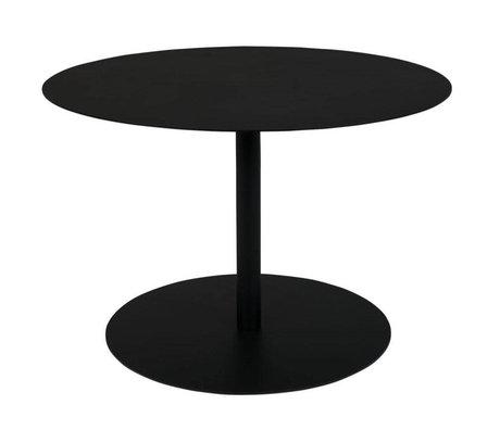 Zuiver Table d'appoint Snow Round en métal noir M Ø60x40cm