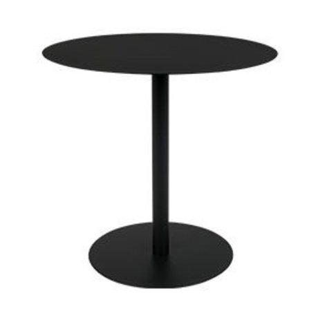 Zuiver Table d'appoint Snow Oval en métal noir 42x31x40cm