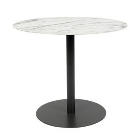 Zuiver Side table Snow Oval marble black metal 42x31x40cm