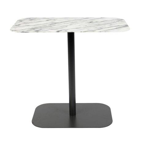 Zuiver Beistelltisch Snow Rectangle Marmor schwarz Metall 50x30x42,5cm