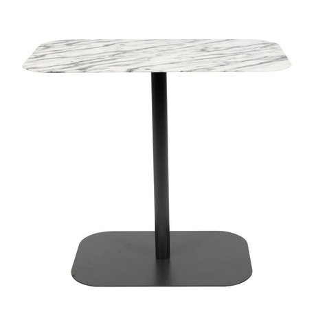 Zuiver Side table Snow Rectangle marble black metal 50x30x42,5cm