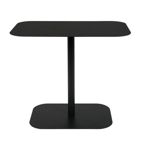 Zuiver Table d'appoint Snow Rectangle en métal noir 50x30x42,5cm