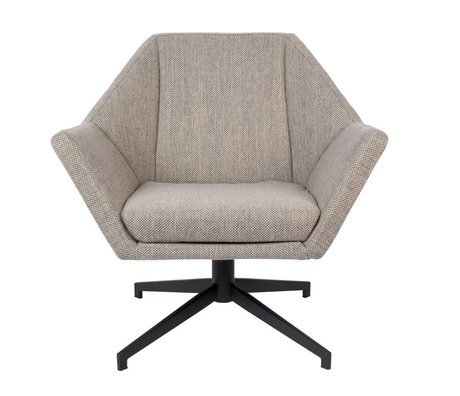 Zuiver Armchair Uncle Jesse sand brown gray textile metal 76x68x76cm