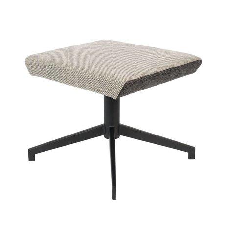 Zuiver Hocker Uncle Jesse sand brown gray textile metal 50x44x43cm