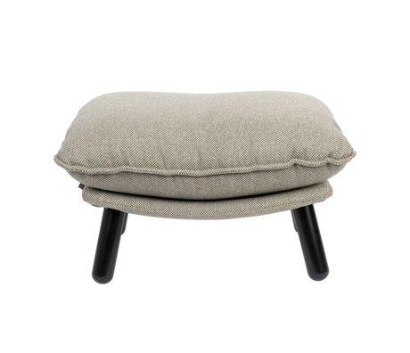 Zuiver Hocker Lazy Sack licht grijs textiel hout 78x52x46cm