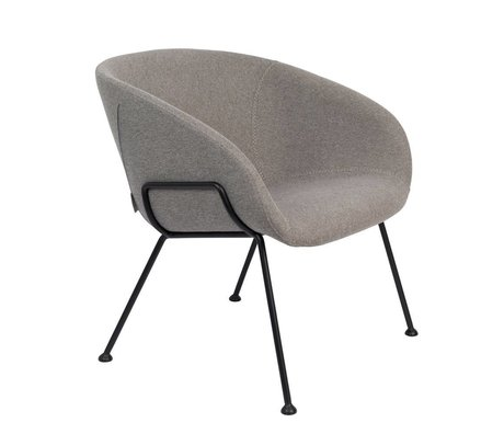 Zuiver Fauteuil Feston Fab gray black polyester steel 70,5x65,5x72cm