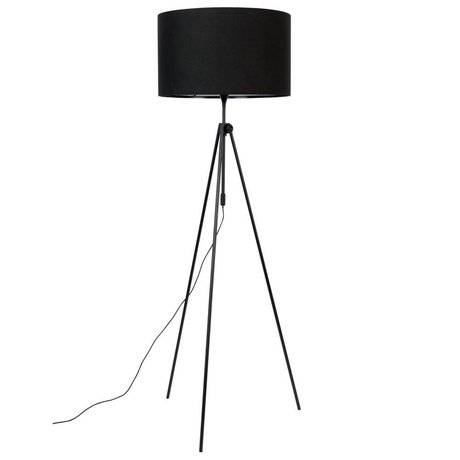 Zuiver Floor lamp Lesley black textile metal Ø50x153 / 181cm