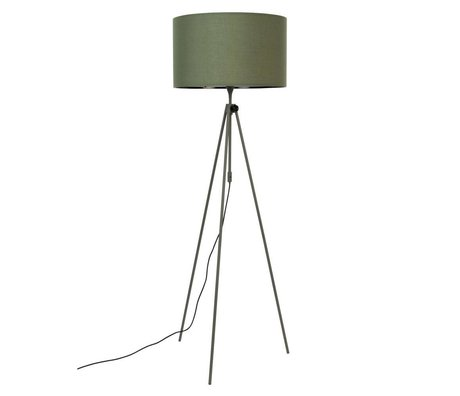 Zuiver Vloerlamp Lesley groen textiel metaal Ø50x153/181cm