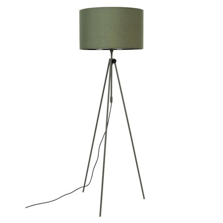 Zuiver Stehleuchte Lesley grünes Textilmetall Ø50x153 / 181cm