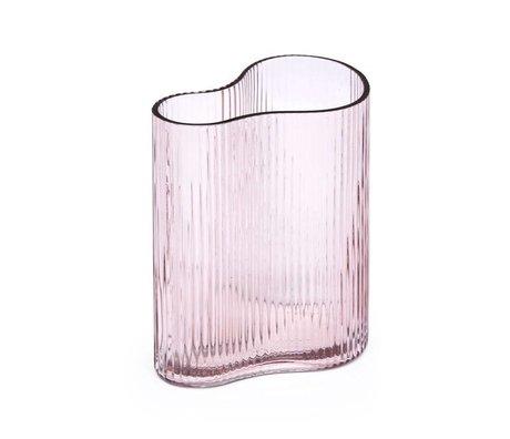 FÉST Vase Swango en verre rose 19x11x21cm
