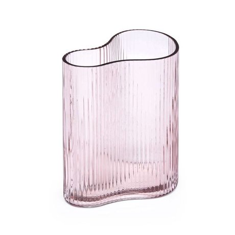 FÉST Vase Swango pink glass 19x11x21cm