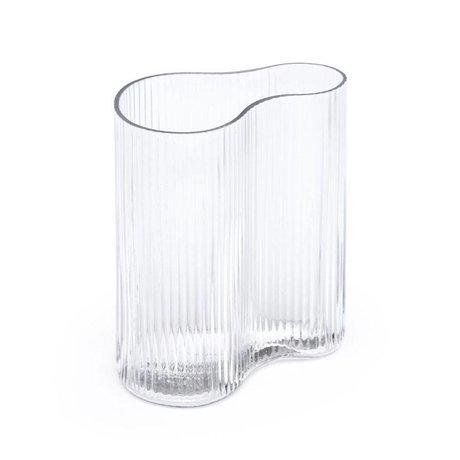 FÉST Vase Swango en verre transparent 19x11x21cm