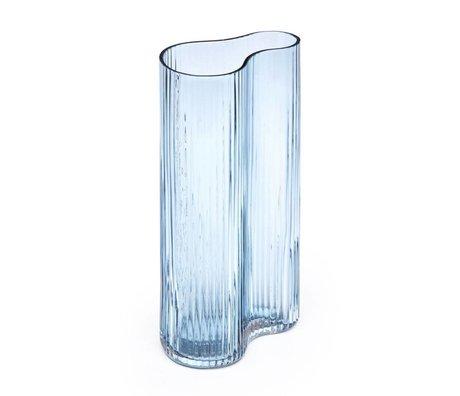 FÉST Vase Swango en verre bleu 16x10x30cm