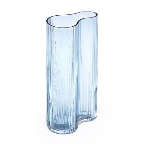 FÉST Vase Swango blaues Glas 16x10x30cm