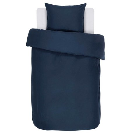 ESSENZA Bettbezug Minte marineblau Baumwollsatin 140x220 + 60x70cm
