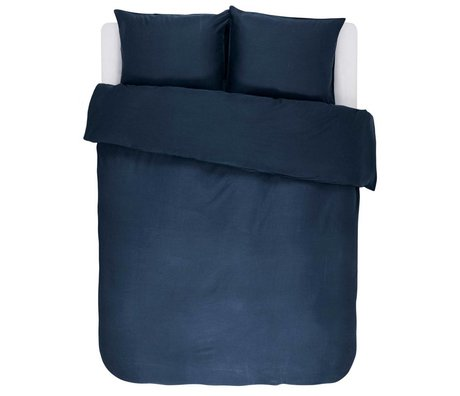 ESSENZA Duvet cover Minte navy blue cotton satin 200x220 + 2 / 60x70cm
