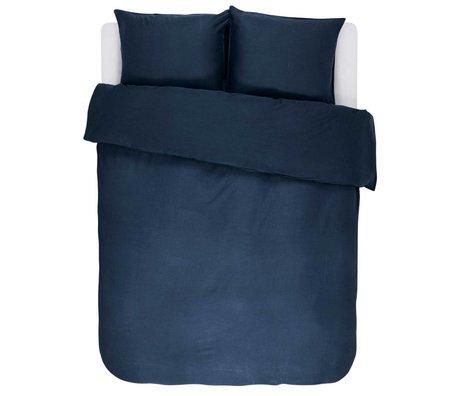 ESSENZA Housse de couette Minte en satin de coton bleu marine 240x220 + 2 / 60x70cm