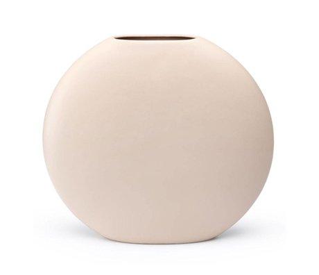 FÉST Vaas Obi licht roze keramiek L 36x10,5x32,5cm