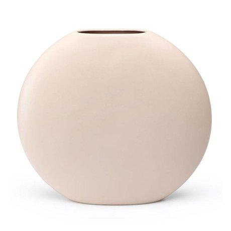 FÉST Vase Obi en céramique rose clair L 36x10,5x32,5cm