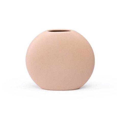 FÉST Vase Obi rosa Keramik S 18x5,5x16cm