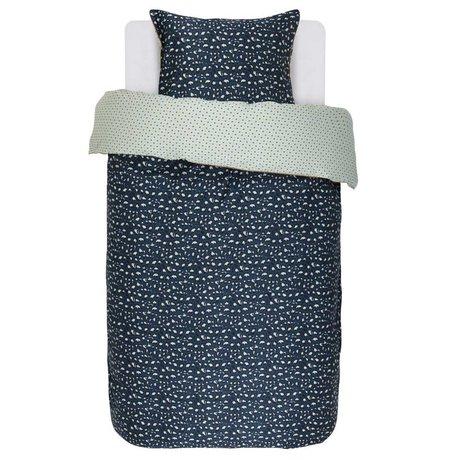 ESSENZA Housse de couette Bory satin de coton bleu marine 140x220 + 60x70cm