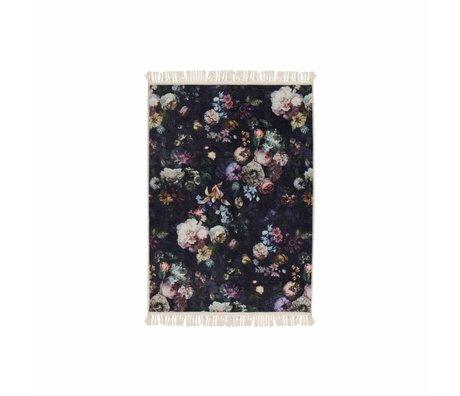 ESSENZA Teppich Fleur Nightblue blau Polyester 60x90cm