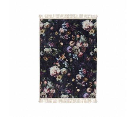ESSENZA Tapis Fleur Nightblue bleu polyester 120x180cm