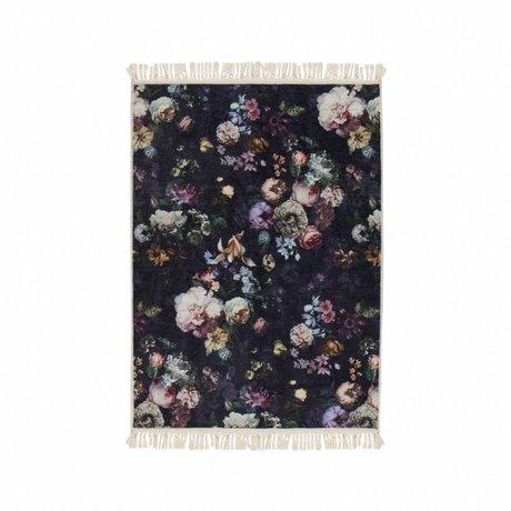 ESSENZA Teppich Fleur Nightblue blau Polyester 120x180cm