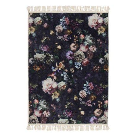 ESSENZA Tapis Fleur Nightblue en polyester bleu 180x240cm