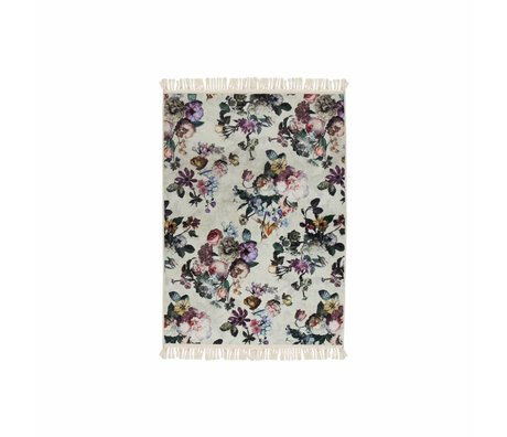 ESSENZA Couvre-sol Fleur Ecru polyester blanc 60x90cm