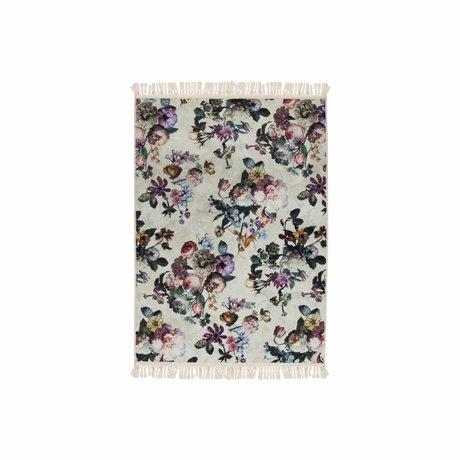ESSENZA Bodendecker Fleur Ecru weiß Polyester 60x90cm