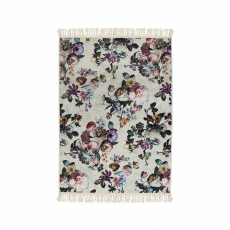 ESSENZA Couvre-sol Fleur Ecru polyester blanc 120x180cm