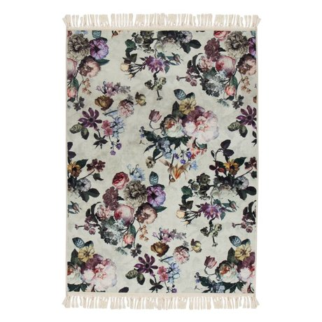 ESSENZA Floorcover Fleur Ecru white polyester 180x240cm
