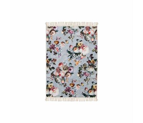 ESSENZA Tapis Fleur Délavé en polyester bleu 60x90cm