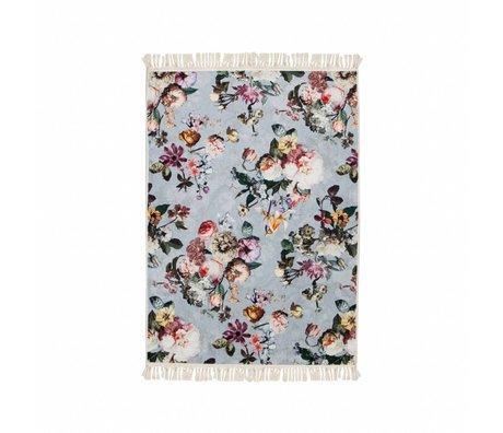 ESSENZA Teppich Fleur Faded blau Polyester 120x180cm