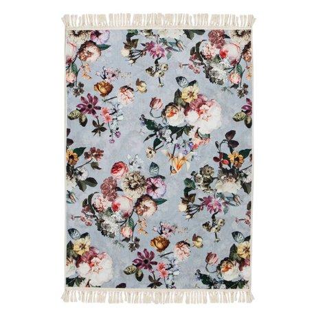 ESSENZA Tapis Fleur Délavé en polyester bleu 180x240cm