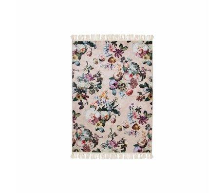 ESSENZA Tapis Fleur rose en polyester 60x90cm