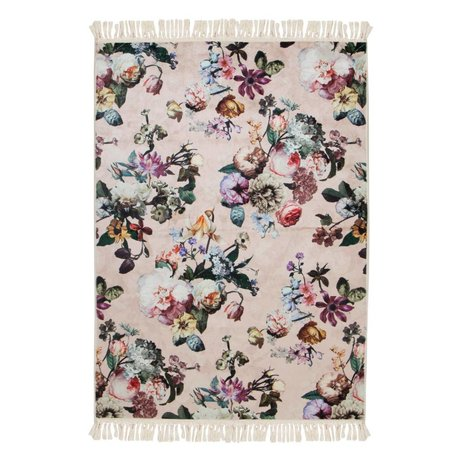 ESSENZA Tapis Fleur rose en polyester 180x240cm