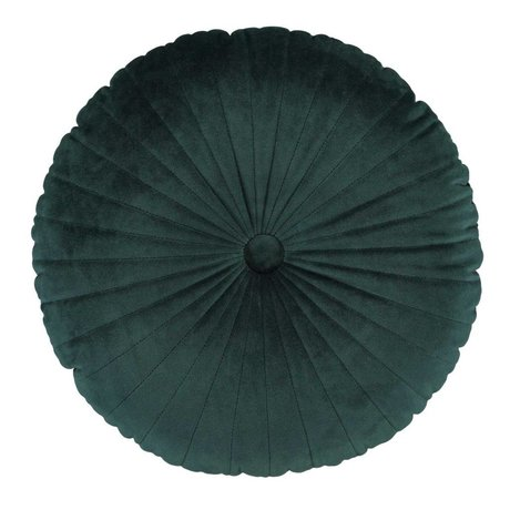 ESSENZA Throw pillow Naina Round green velvet polyester ø40cm