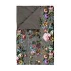 ESSENZA Plaid Fleur Taupe bruin velvet polyester 135x170cm