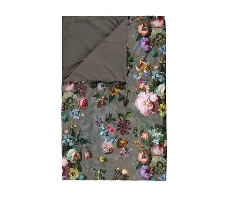 ESSENZA Quilt Fleur Taupe brown velvet polyester 270x265cm