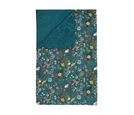 ESSENZA Plaid Xess petrol blauw velvet polyester 135x170cm