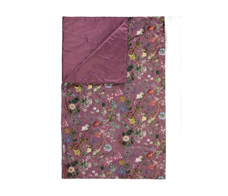 ESSENZA Plaid Xess marsala rood velvet polyester 135x170cm