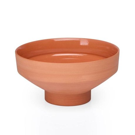 FÉST Bowl of Chester terracotta brown ceramic Ø9,5x21cm