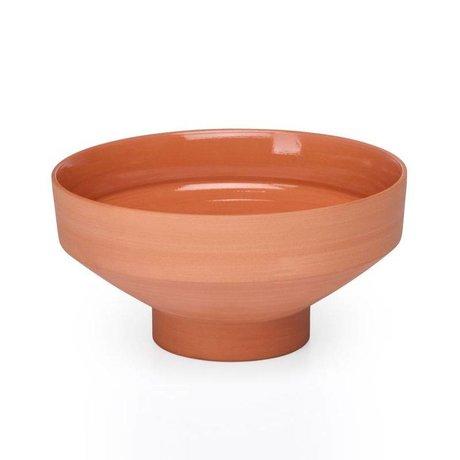 FÉST Schaal Chester terracotta bruin keramiek Ø9,5x21cm