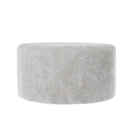 Riverdale Pouf Ridge gris clair 70cm