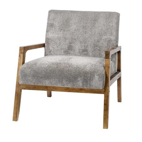 Riverdale Armchair Louis gray textile wood 77cm
