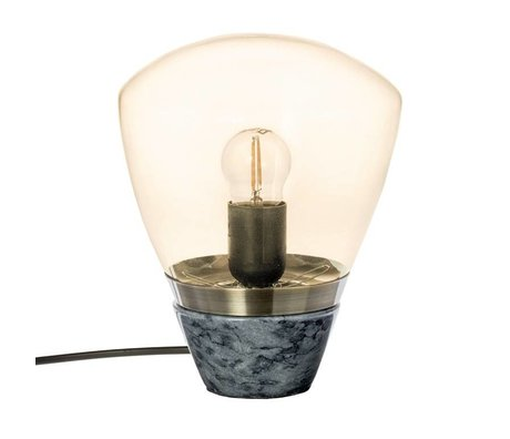 Riverdale Tafellamp Marble smoke marmer glas 23cm