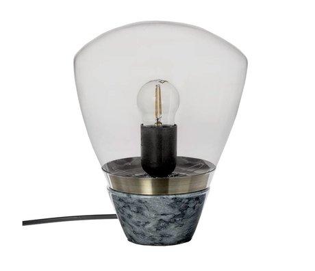 Riverdale Lampe de table en marbre verre gris foncé 23cm